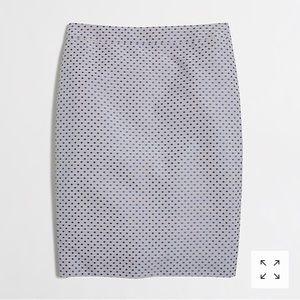 NWT J. Crew Jacquard Dot Pencil Skirt 6 $85